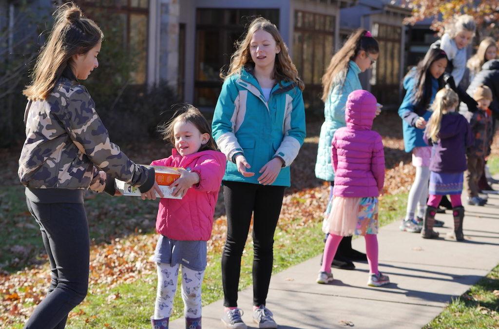 Fourth Graders Lead Food Drive
