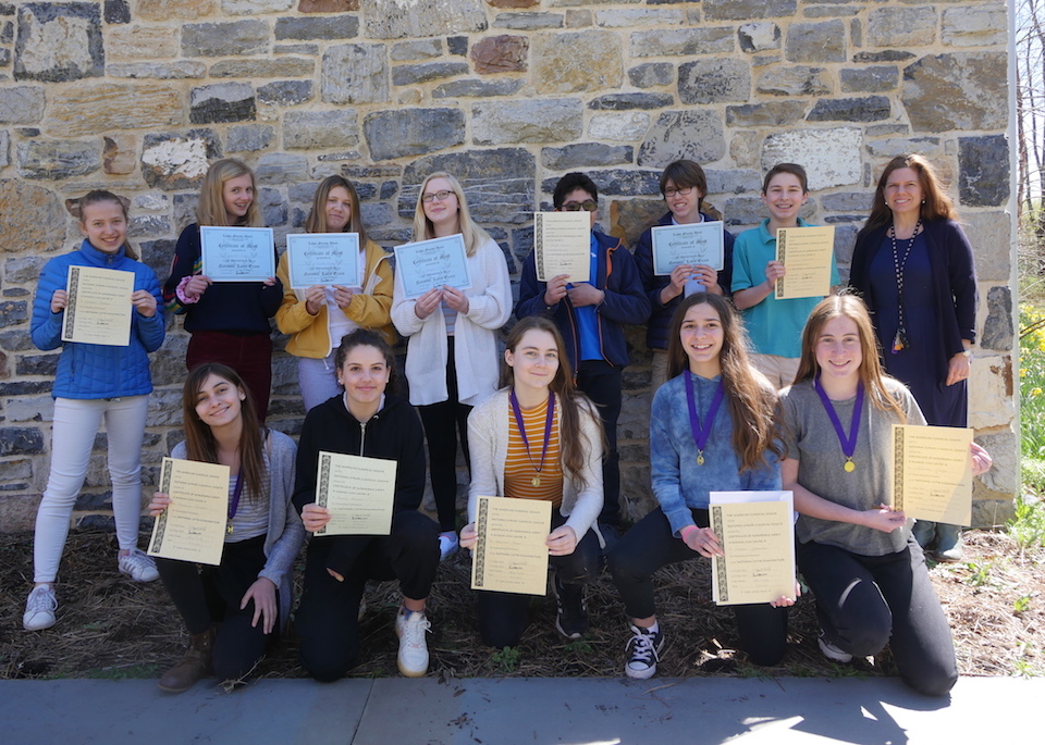 Willow Middle Schoolers Excel in 2019 National Latin Exam
